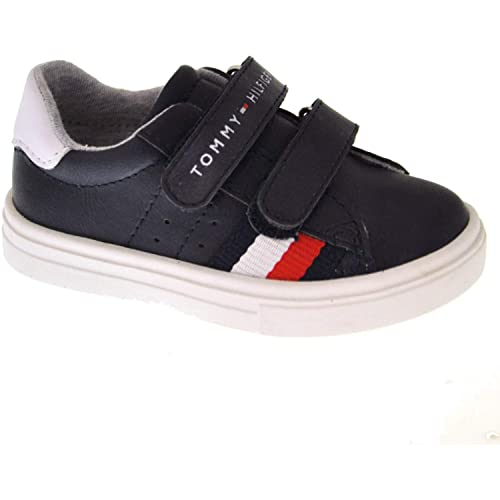 6cedf9f28273c4 Tommy Hilfiger T1B4-30303-0621 Blue White Eco Leather Infant Trainers   Amazon.co.uk  Shoes   Bags