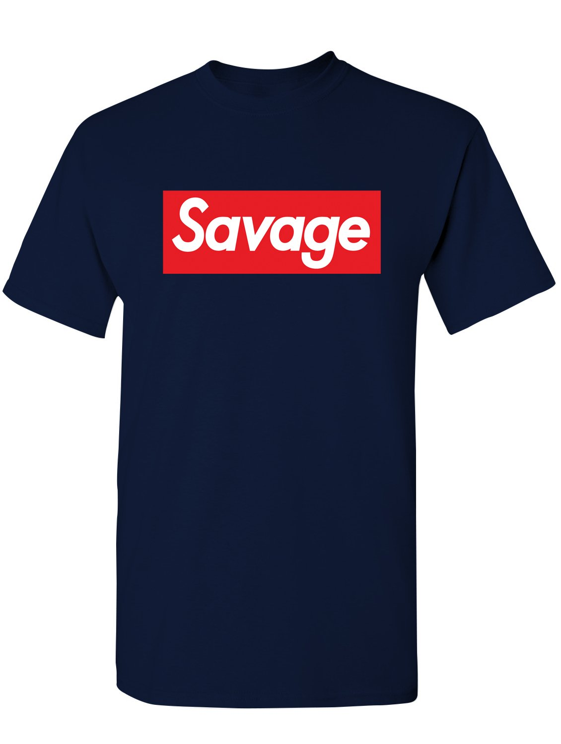 Manateez Men's Savage Skateboarding Tee Shirt Small Navy