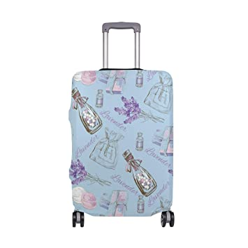 bee30155d40a Amazon.com | Blue Lavender Essential Oil Travel Luggage Cover ...