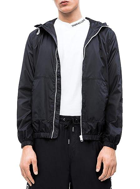 Calvin Klein Chaqueta Nylon Hooded Negro Hombre: Amazon.es: Ropa y accesorios