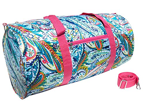 Best Multicolored Paisley Soft Weekender Barrel Gym Duffel Messenger Bag Quirky Last Minute Unique Birthday Christmas On Clearance Deal Gift Idea Under 20 Dollars for Sale Women Her Kid Teen Girl