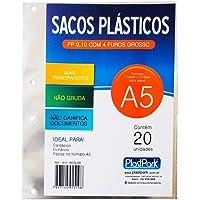 SACO PLAST 4 FUROS A3 345MMx430MM PP GROSSO 0,10mm (REFIL 186 e 154), Plast Park, 1511, INCOLOR, Pacote com 20