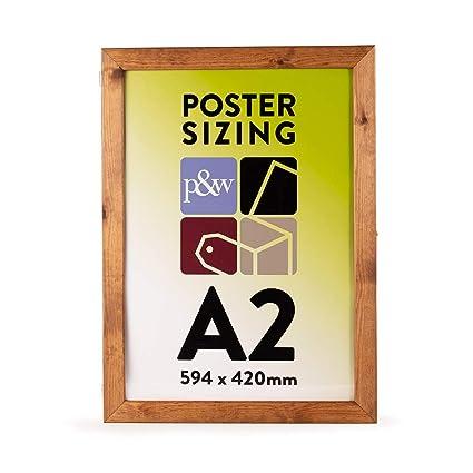 A2 pizarra de madera con bisagras soporte de carteles (H ...