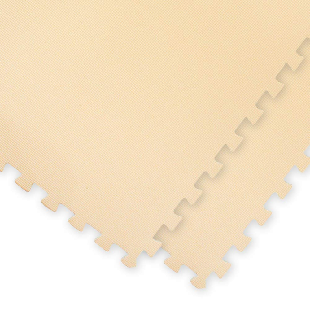 極厚ジョイントマット 2cm 4.5畳 大判 【やさしいジョイントマット 極厚 約4.5畳(24枚入)本体 ラージサイズ(60cm×60cm) ベージュ】 床暖房対応 赤ちゃんマット ds-1719781 B01LZY6MXM