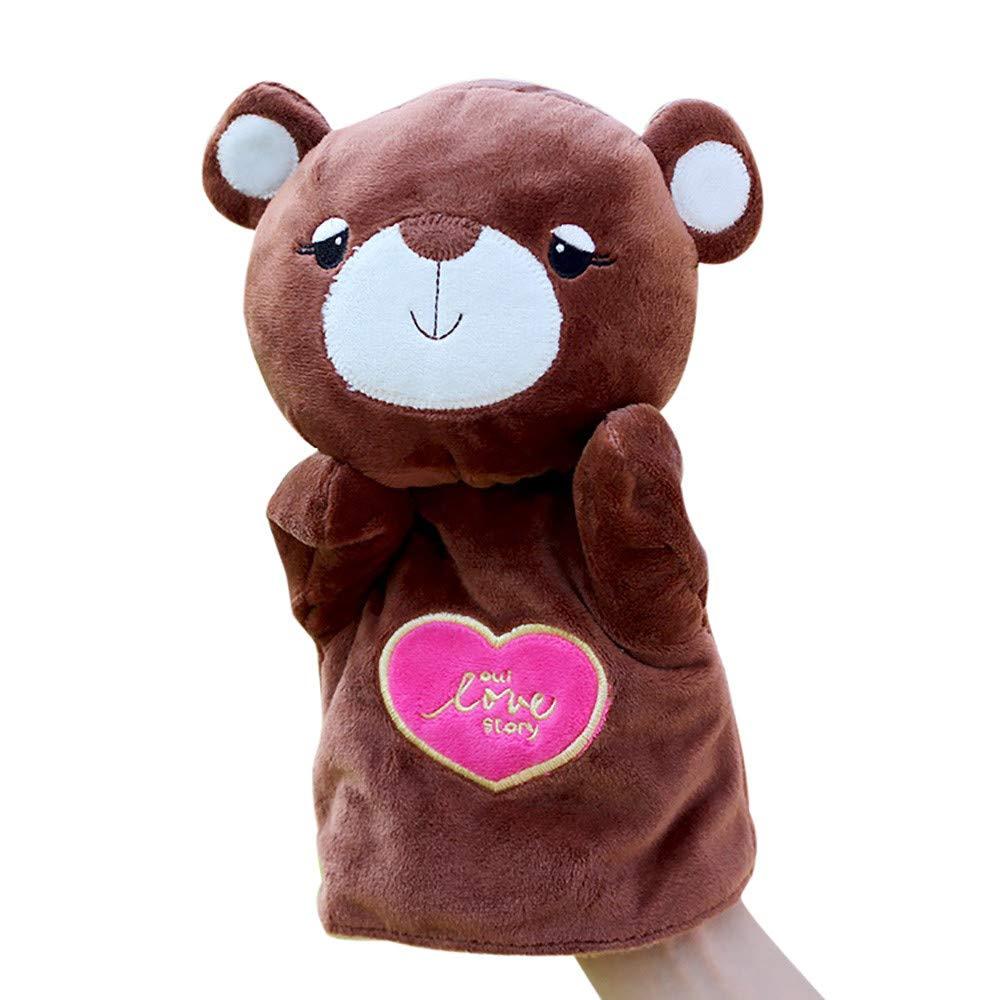 Waymine キッズグローブ ハンドパペット ソフトフラシ天 指のおもちゃ かわいい漫画の動物人形のおもちゃ 9.8 inchs tall Way14761798 B07JN68R48  D
