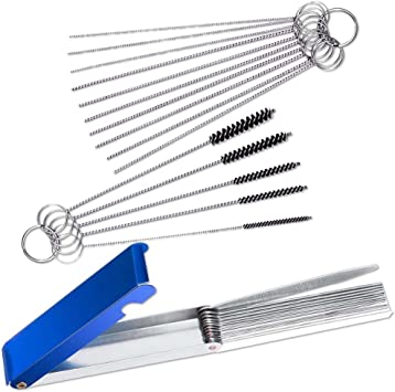 18 In 1 Carburetor Carbon Jet Cleaning Needles Brushes Tool For Moto Motorcycle