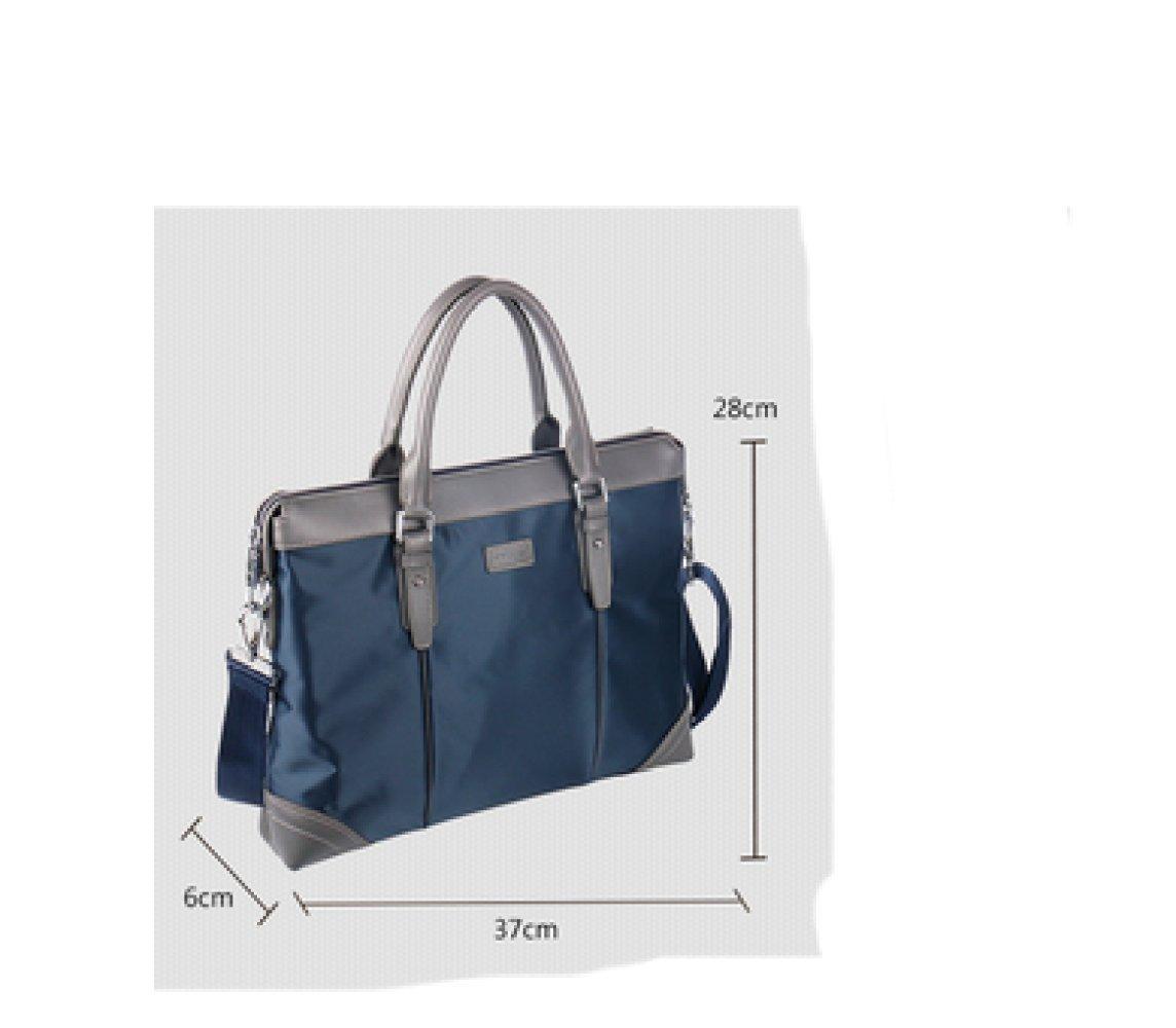 British Style Casual Men's Bag Waterproof Oxford Cloth Handbag Briefcase Shoulder Messenger Bag,Black-L by NUGJHJT (Image #3)