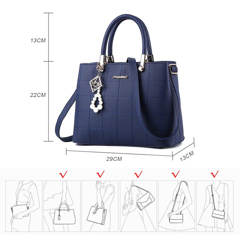76b3b03c6c9 BestoU Bolsos Mujer bandolera Shopper Tote Bolso PU PIEL (Azul)  Amazon.es   Equipaje