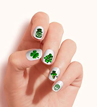 Shamrock St Patrick/'s Day holographic green glitter decal set of 16