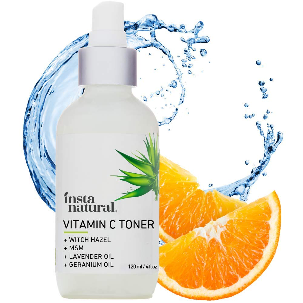 InstaNatural Vitamin C Facial Toner - Anti Aging Face Spray with Witch Hazel - Pore Minimizer & Calming Skin Treatment for Sensitive, Dry & Combination Types - Prep for Serums & Moisturizers - 4 oz by InstaNatural