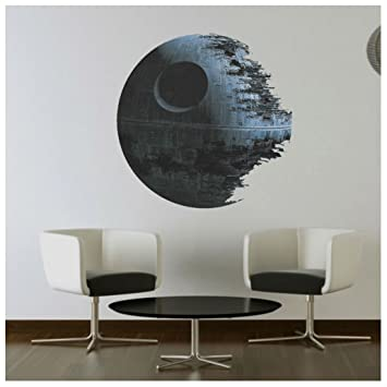 Death Star ARTWORK Star Wars Home Decor Wall Sticker Wallpaper Wall Decals  Mural