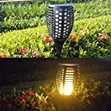 Cinoton Solar Path Torches Lights Dancing Flame Lighting 96 LED Flickering Tiki Torches Outdoor Waterproof(2 Pack)