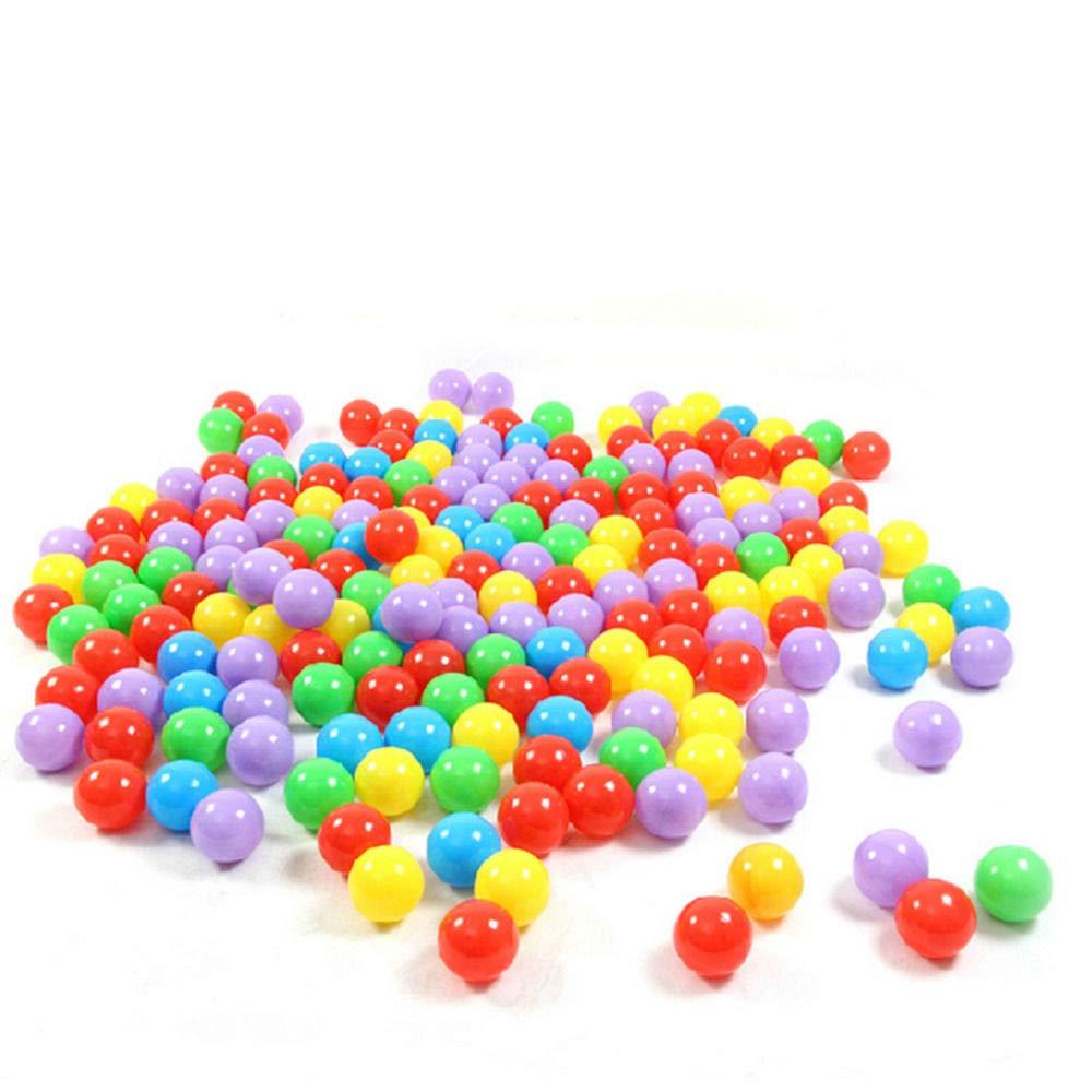Pagacat 100個 5.5cm 楽しいソフトプラスチック オーシャンボール プール用おもちゃ 赤ちゃん 子供 おもちゃ カラフル   B07N3TT5DL