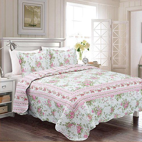 Pink And Green Comforter - 3