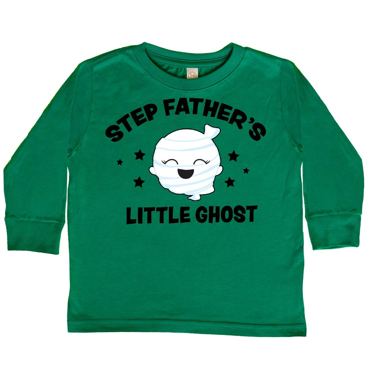 inktastic Cute Step Fathers Little Ghost with Stars Toddler Long Sleeve T-Shirt