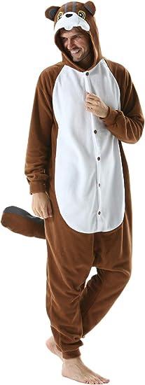 DELEY Unisexo Adulto Caliente Animal Pijamas Cosplay Disfraz ...