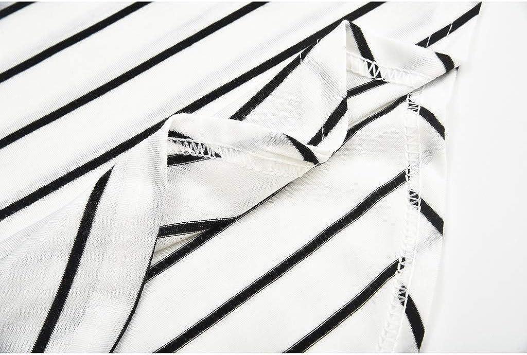 Umstandskleidung Frauen Mutterschaftslange H/ülsen gestreiftes Krankenpflege Oberseiten T Shirt f/ür das Stillen Mammamode Fleckenstreifen Farbabstimmung