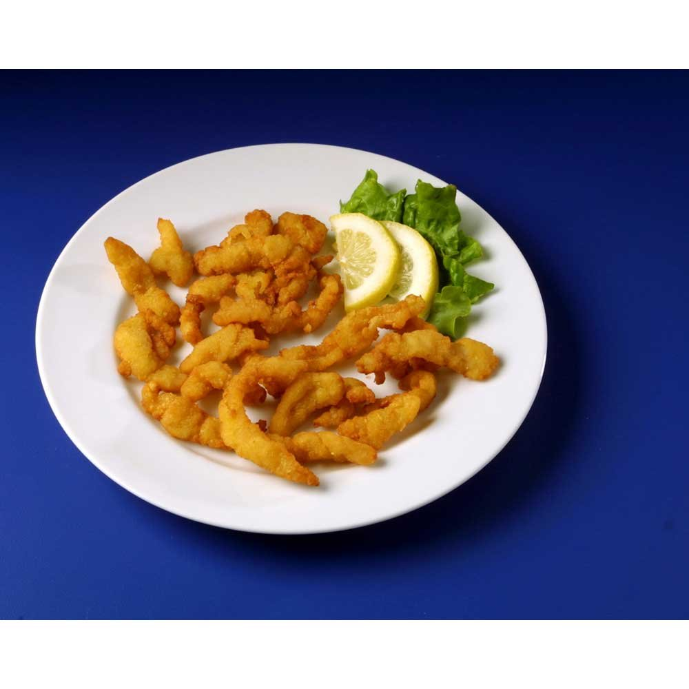 Pre-Fried Breaded Natural Clam Strip, 4 Ounce - 24 per case.