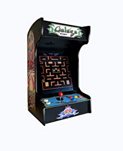 Doc and Pies Arcade Factory Classic Home Arcade Machine - Tabletop and Bartop - 412 Retro Games - Full Size LCD Screen, Buttons and Joystick - 2 Year Warranty (Black)