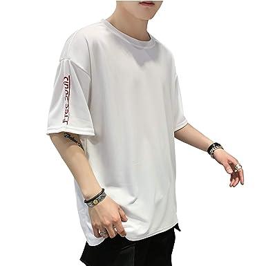 66dd1749d5068b Amazon | 【パーフェクト人生】夏服 メンズ Tシャツ 半袖 Tシャツ 五分袖 ...
