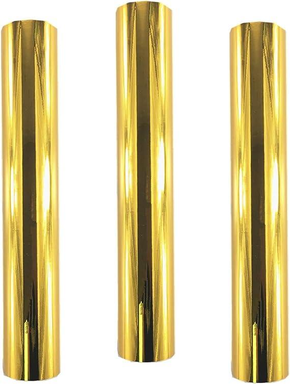 WDragon - Rollo de vinilo adhesivo holográfico permanente para manualidades con diseño de ópalo brillante, 30 x 30 cm, 3 hojas, para herramientas Silhouette Cameo Cricut y más dorado: Amazon.es: Hogar