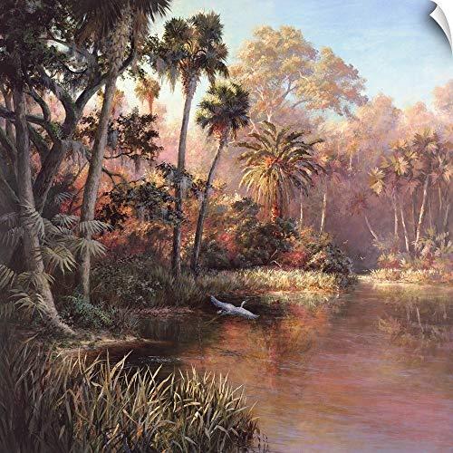 Canvas on Demand Art Fronckowiak Wall Peel Wall Art Print Entitled Myakka Sunset (Fronckowiak Tropical Print)