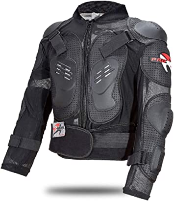 Motorcycle Jacket Armour Complete Motocross Enduro Scooter Body Protection for Adults M Black