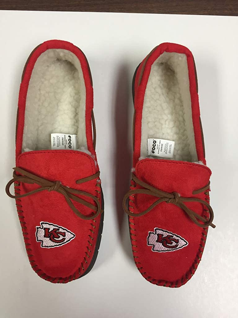 X-Large FC Kansas City Chiefs Mens Team Color Moccasin Slippers