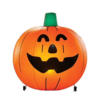 Halloween Yard Stakes.Inflatable Pumpkin Halloween Yard Stakes Round