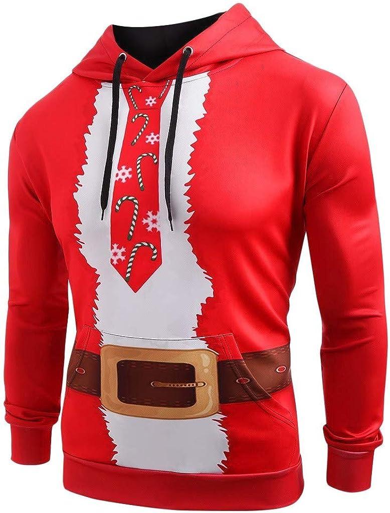 Vickyleb Mens Hoodie Pullover,Unisex Men Women Couples Print Pullover Hoodie Hooded Sweatshirt Outwear with Big Pockets