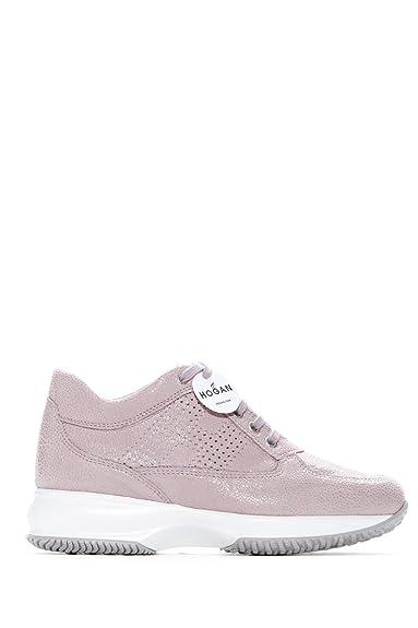 92d525805d2 Hogan Baskets pour Femme Rose Rose  Amazon.fr  Chaussures et Sacs