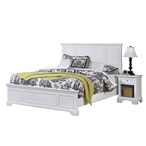 Naples White Queen Bed & Night Stand by Home Styles