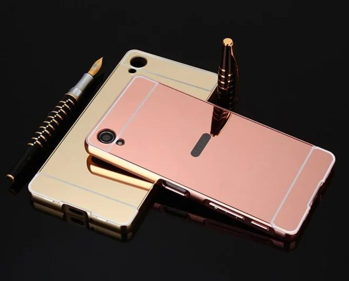Sony XA1 Plus Mirror Case, Shiny Awesome Make-up Mirror Plated Aluminum Metal Frame Bumper Slim Cover, TAITOU Cool 2 in 1 Pluslight Thin Phone Case ...