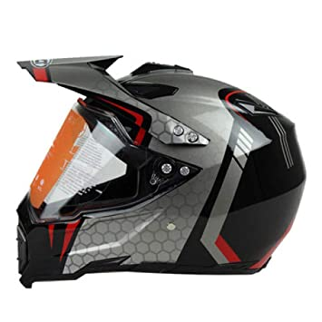 XBECO Cascos Unisex De Moto Off Road Full Face Hombres Mujeres Casco Integral Carreras De Playa