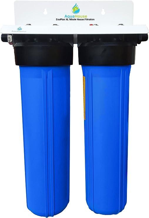 EcoPlus XL Sistema de filtro de agua de la casa entera y suavizador de agua libre de sal, probado 99,6% eficaz de la prevención de la escala: Amazon.es: Hogar