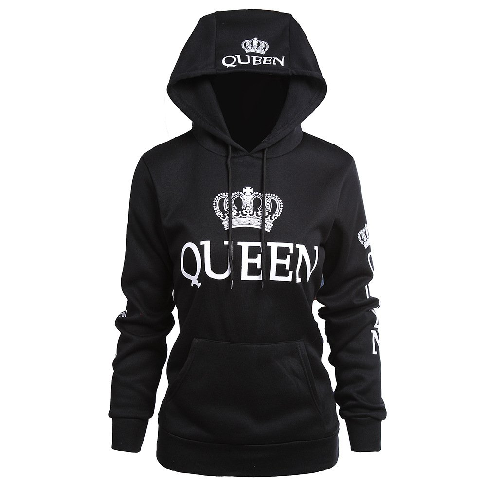 CHENMA King & Queen Matching Couple Pullover Hoodie Sweatshirts for Men and Women (Queen 6, XL/US L)