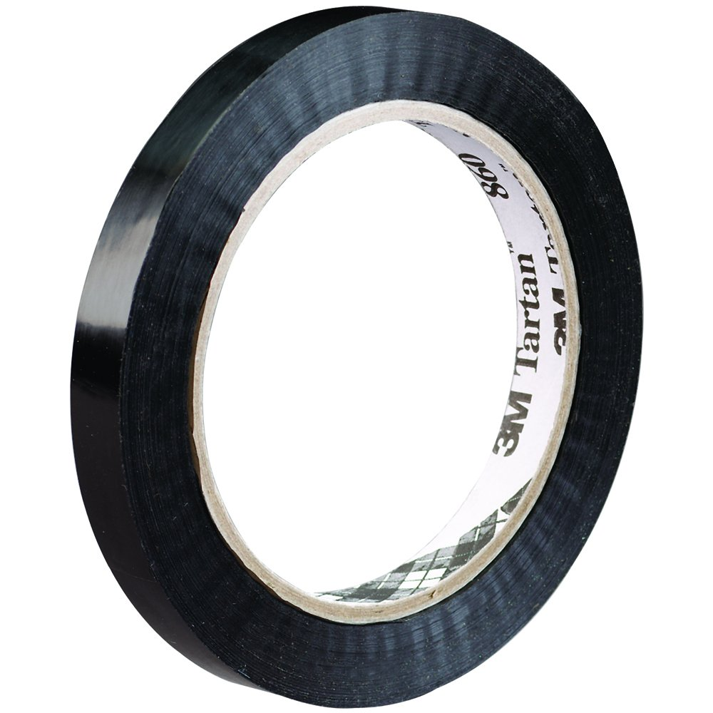 Tartan T91386012PK Tensilized Poly Strapping Tape, 1/2'' x 60 yd (Pack of 12)