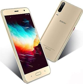 Moviles Libres Baratos 4G,Teléfono Móvil Barato de 5.5 Pulgadas 16GB ROM Android 9.0 Quad-Core Smartphone Libres Baratos 4800mAh Batería Moviles Baratos y Buenos Dual SIM Cámara 8MP(Oro): Amazon.es: Electrónica