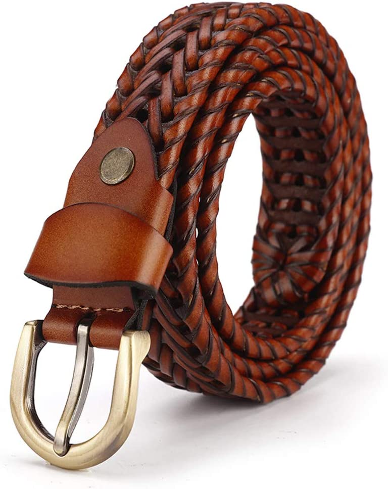 XHHWZB Ms Mens Belt Casual Braided Elastic Fabric Woven Stretch Elasticated Belts