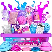 Original Stationery Mini Unicorn Slime Kit for Girls - All in One Box! - Kids Can Make Unicorn Sparkle, Clay,