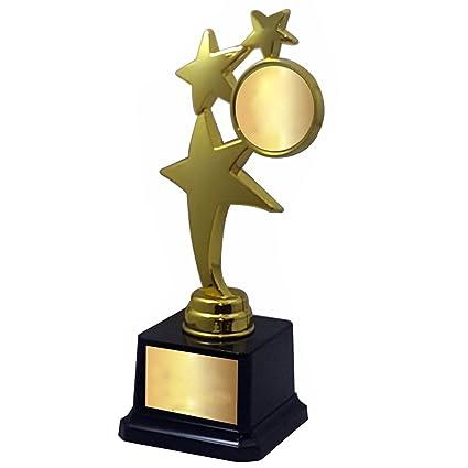 TROPHY BAZAAR 3 Star Trophy 9 Inch Height