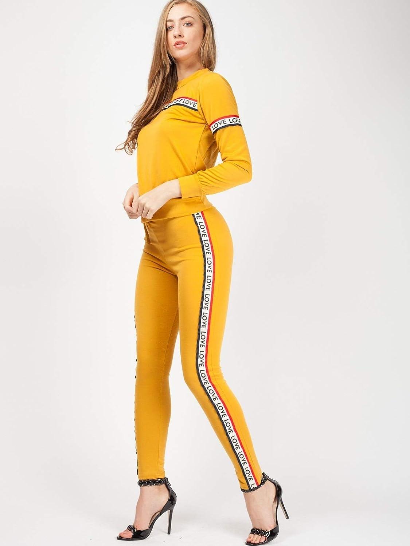 Momo&Ayat Fashions - Chándal - para Mujer Amarillo Mostaza S/M (36 ...