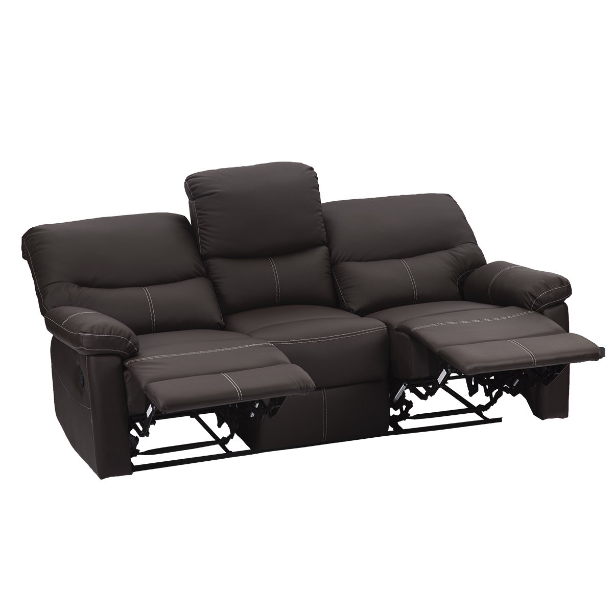 Amazon.com: BestMassage reclinable conjunto de sofás 3 ...