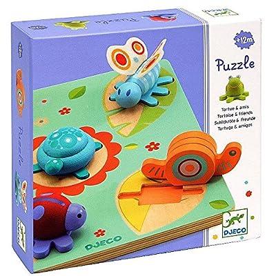 Djeco 01031 Puzzle 3d Turtle Friends