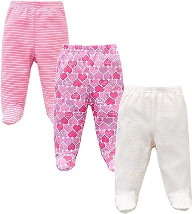Reveryml Niña Pantalones 3 unids/Lote Primavera otoño pies bebé Pantalones 100% algodón niñas bebés niños Ropa Unisex Inferior Inferior Pantalones PP recién Nacido Ropa de bebé: Amazon.es: Ropa y accesorios