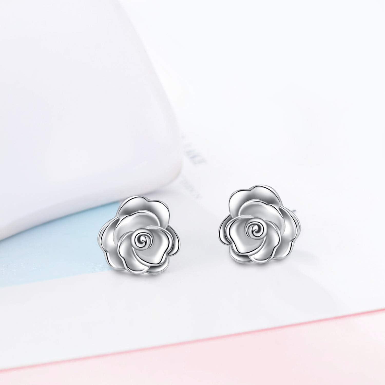 Silver Flower Earrings\u2014Efflorescence Earrings\u2014Small Handmade Flower Earrings\u2014You Choose Post or French Hooks\u2014Ready-to-Ship