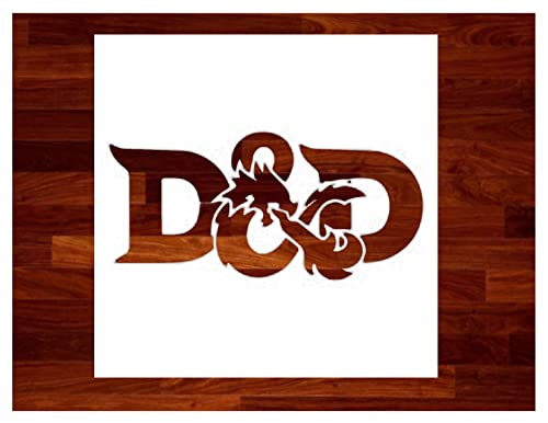 Dungeons and Dragons ~ Stencil ~ Multiple Sizes ~ Custom Stencil