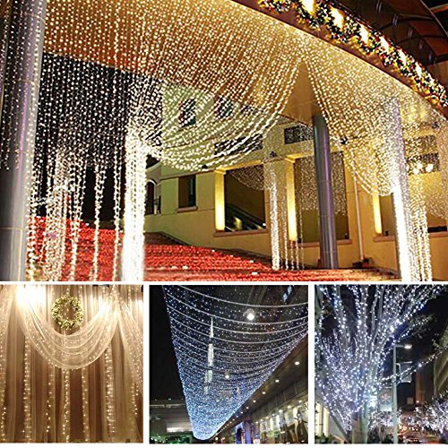 Lily's Gift LED String Lights with 66ft 200LED 8 Modes Irregular Firefly Starry String Light for Patio, Garden, Yard, Square, Chritmas, Wedding Decor (Warm Light) by Lily's Gift (Image #4)