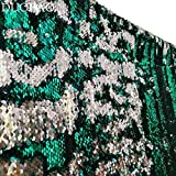 DUOBAO Sequin Backdrop 20FTx10FT Green to Silver Glitter Backdrop Curtain Mermaid Reversible Sequin Curtains Beautiful Background