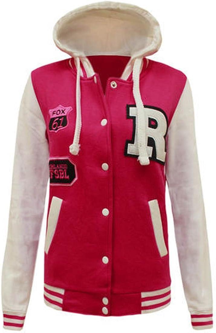 Fashion 4 Less, nueva chaqueta de béisbol para mujer con capucha ...